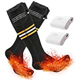 YIZRIO Heated Socks for Men Women, Upgraded Winter Electric Washable Battery Heating Socks, 3 Heat Settings Thermal Sock for Chronically Cold Feet Hunting Ski Camping Hiking (Battery Not Included)