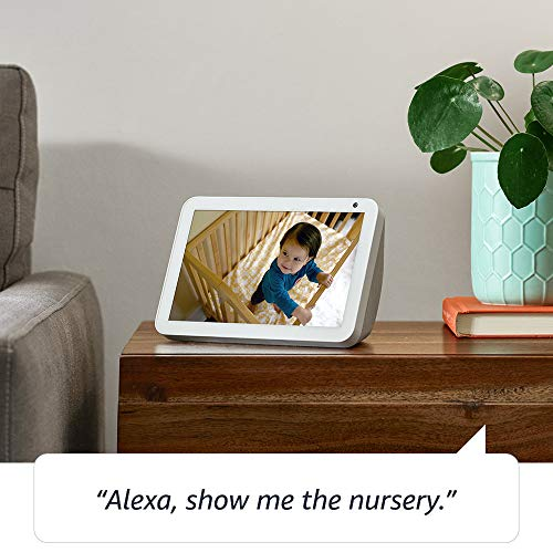 "Introducing Echo Show 8 - HD 8"" smart display with Alexa - Charcoal"