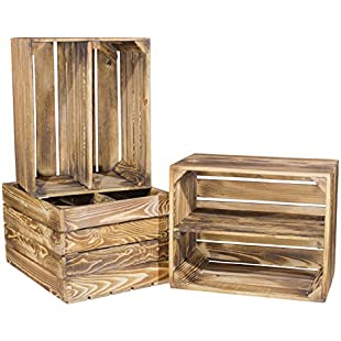 Scorched Wooden Apple Crate with Additional Medium Board Shoe or Bookcase:Peliculas-gratis