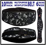 Xtrim 6 Inch Weightlifting Belt-Contoured and Ultra-Light Foam Core Comfort Stabilizing Back Support