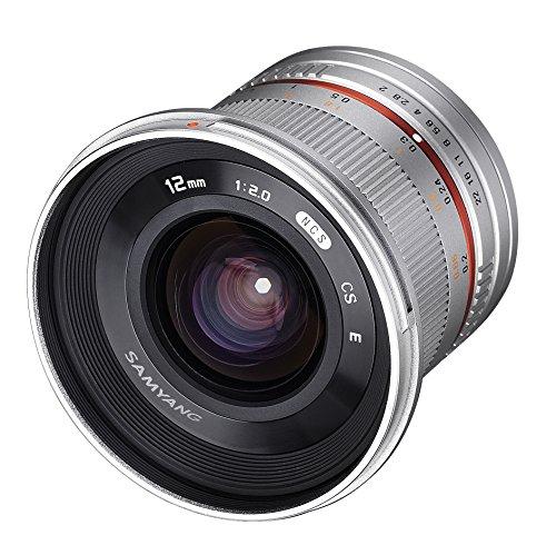 Samyang SY12M-FX-SIL 12 mm F2.0 Ultra-Weitwinkel-Objektiv für Fujifilm X-Mount Kameras, Fuji X, Silber