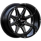 RT800 20' Wheels Rims 20x10 Gloss Black Milled 6x5.5 6x139.7 6x139 Set Of 4 (-18 Offset) 10 Inch Wide