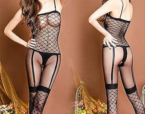 fangfang908 Sexy Perspektiven-Schlinge Sexy Freigelegte Brüste Crotver-Schwarz