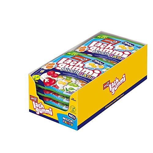 nimm2 Lachgummi Milchparty (10 x 300g) / Vegetarisches Fruchtgummi mit Fruchtsaft & Vitaminen