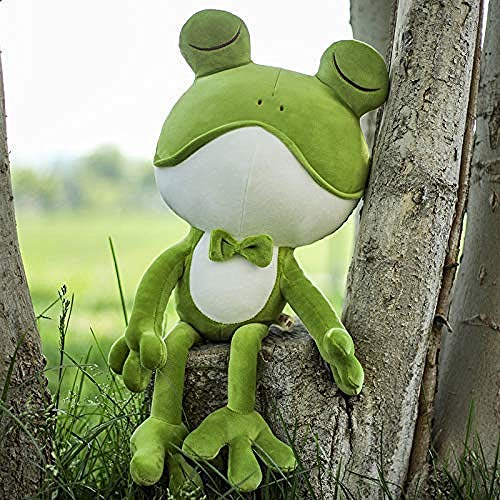 NC56 Muñeca de Juguete de Felpa Muñeca Suave Muñeca de Cama Muñeca con para ing 65cm Soft Frog