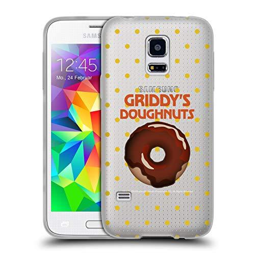Head Case Designs Ufficiale The Umbrella Academy Cioccolato 2 Griddy's Ciambelle Cover in Morbido Gel Compatibile con Samsung Galaxy S5 Mini