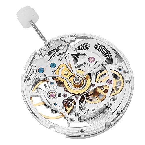 SALUTUYA Movimiento de Reloj Movimiento de Reloj mecánico Herramienta de reparación de Reloj Conveniente de Usar para reemplazo Blanco 2824 Movimiento de Reloj Pieza de Reloj