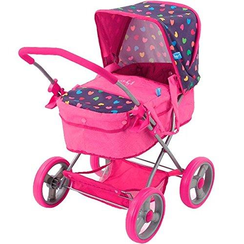 Hauck D86484 Puppenwagen Gini Herz, rosa