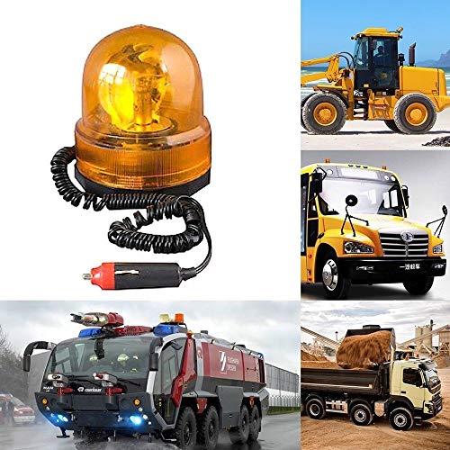 TradeShopTraesio_OX Lampeggiante SEGNALATORE Emergenza Rotante CALAMITA Magnetico Auto Trattore 12V