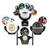 Projectables Star Wars 6-Image + TIE Fighter + Death Star + BB-8 Night Lights, Collector's Edition, Dusk to Dawn, Plug-in, UL-Listed, Ideal for Bedroom, Nursery, Bathroom