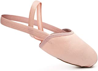 STELLE Contemporary Pirouette Dance Half Sole Canvas Lyrical Turning Shoes for Ballet Jazz Girls/Women/Boy/Men/Adult