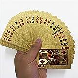 GUI Barajas de Carta de Juegos estándar Magic Card Juego de Oro de 24K de póker de Juego de la Cubierta de Hoja de Oro Juego de póker plástico Impermeable Tarjetas mágica