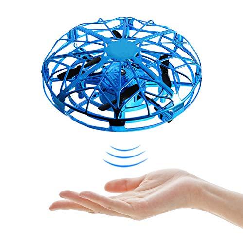 Stecto Mini Drohne Für Kinder, UFO Mini Drohne, Handgesteuerte Flying Drohne mit 360 ° rotierenden und LED Licht, RC Fliegender Ball, Fliegendes Spielzeug für Jungen Mädchen Geschenke