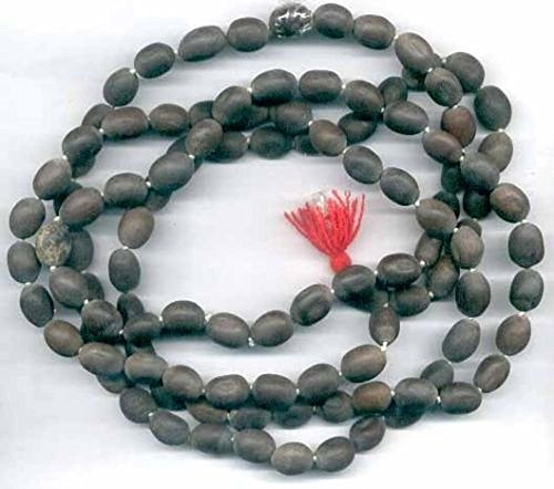 LOTUS SEED BEADS OR KAMAL GATTA KAMALGATTA 108+1 PRAYER BEADS ROSARY JAAP JAPA MALA KARMA NECKLACE. BLESSED & ENERGIZED HINDU TIBETAN BUDDHIST SUBHA ROSARY FOR NIRVANA, BHAKTI, FOR REMOVING INNER DOSH