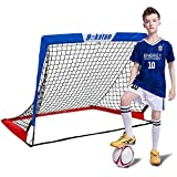 Hekaton Portable Soccer Goal, Pop-up Soccer Nets for Backyard Training Goals for Soccer Practice with Carry Case, Target Sheet Holes for Kids Indoor/Outdoor …