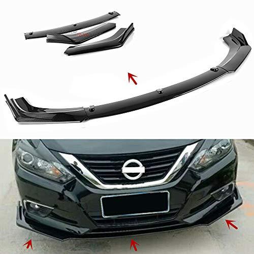 MotorFansClub 3pcs Front Bumper Lip fit for compatible with Nissan Altima 2013 2014 2015 2016 2017 2018 Splitter Trim Protection Spoiler, Carbon Fiber