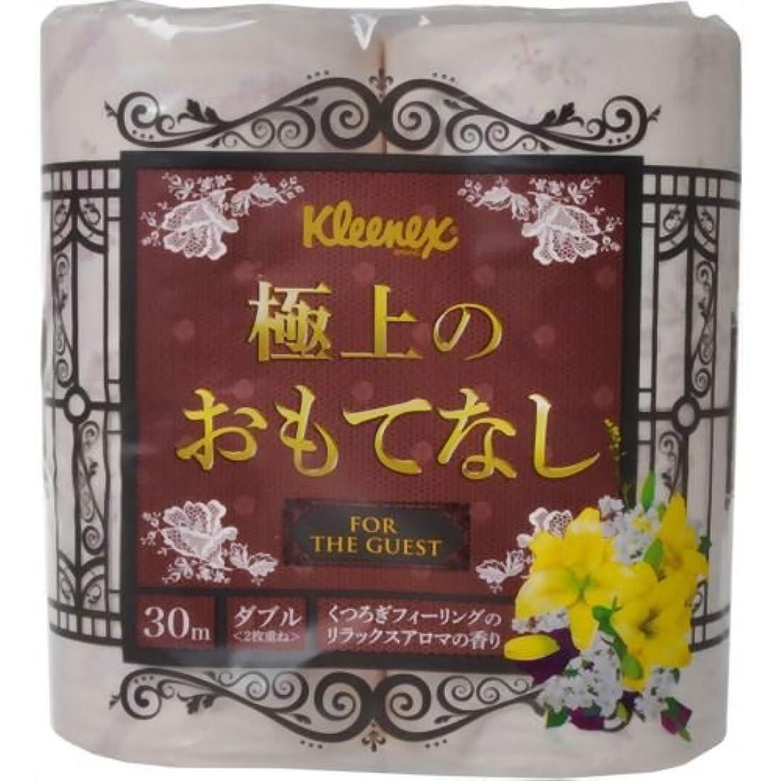 頂点羊のくそー日本製紙クレシア クリネックス トイレットペーパー 極上のおもてなし 香りつき 4ロール(ダブル)4ロール×10パック=40ロール 22810