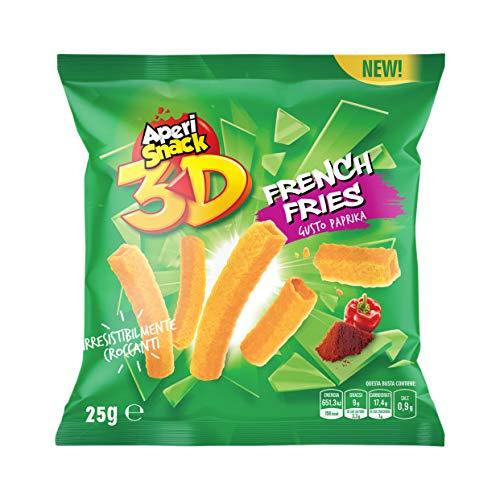 Aperisnack® - AP03.005.11 French Fries (36 pz) in Bustine Monoporzione / Vending. Patatine Monoporzione per vending e aperitivo