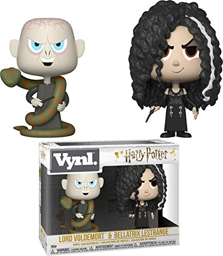 Funko 32780 VYNL - Pack de 2 Vasos de 10,16 cm, diseño de Harry Potter: Bellatrix y Voldesdaño, Multicolor