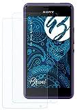 Bruni Schutzfolie kompatibel mit Sony Xperia E1 Folie, glasklare Bildschirmschutzfolie (2X)