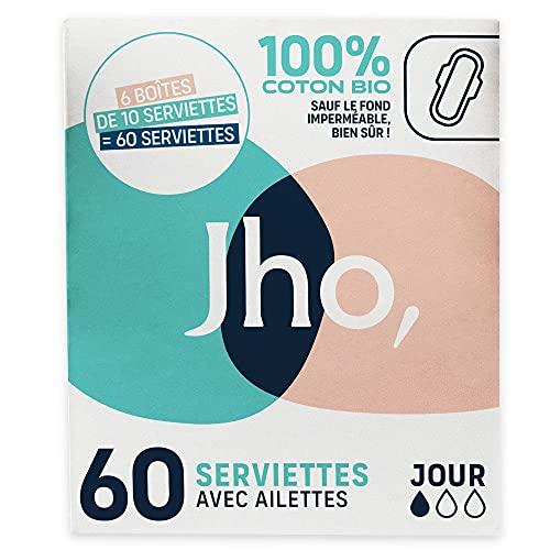 Jho – Toallas higiénicas de algodón 100% orgánico