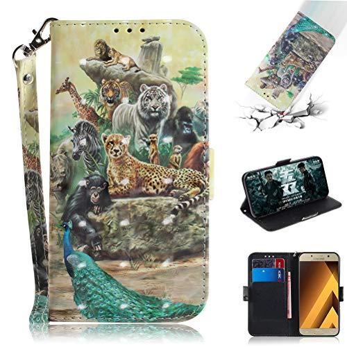 Jieheng Funda Samsung Galaxy A5 2017,Carcasa Galaxy A520,Patrón de lujo 3D PU Cuero Billetera Carcasa Libro con Tipo Flip Caso Cierre Magnético Ranuras Tarjetero y Función de Suporte