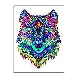 Leinwand Bild,Bunte Wolf Mandarin Tee, Poster Und Drucke