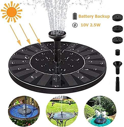 Jf Solar Gartenbrunnen / Brunnen / Brunnen / Brunnen / Pool / Freiluftpool / Schwimmender Wasserstrom / Beleuchteter Brunnen (1,4 W)