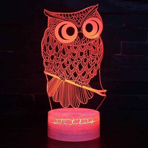 Led-schattig 3D-nachtlampje, 7 kleuren, 2 modi, USB aangedreven voor kinderen, slaapkamer, nachtkastje, lampje, feestdecoratie, jongens, meisjes, kind cadeau