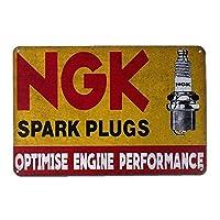 SUDISSKM Ngkスパークプラグティンサイン