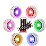 LEASTYLE Wireless LED Puck Lights with Remote...