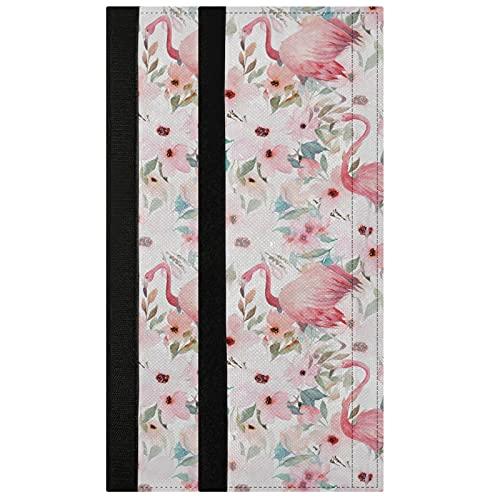 Oarencol Juego de 2 fundas para manija de puerta, diseño de flores de flamenco, color rosa