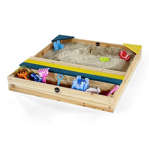 Plum 25069 Kinder Sand Spielzeug Sandkasten mit Aufbewahrungsbox