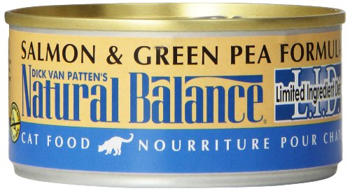 Natural Balance Canned Cat Food, Limited Ingredient Salmon And Green Pea Recipe, 24 X 6 Ounce Pack