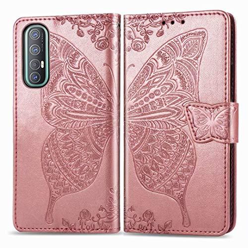 TenDll Fundas Nokia C20 Plus,Funda Flip [Cierre Magnético] [Stand Función] [Ranura de Tarjeta] Slim Flip Fundas Case para Nokia C20 Plus -Oro Rosa