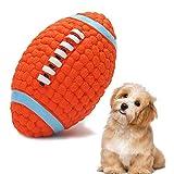 Giocattolo Palla Cane, Giochi Rugby con Squeak per Cani in Gomma Naturale, Giocattolo interattivo da Lancio, Forniture per Addestramento per Cani di Piccola Taglia