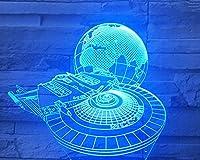 ブルートゥースオーディオナイトライト、アーススペースステーション、3Dナイトライト、装飾ライト、ベッドサイドライト、ギフトナイトライト、カラフルなグラデーションテーブルランプ