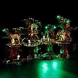 Iluminación de Fondo de luz para (Lego Ewok Village Oso) Bloques de construcción de Modelos, Led Light Kit Compatible con Lego 10236 (sin incluir Lego Modelo)