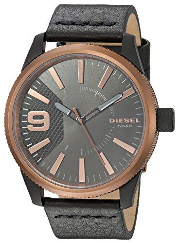 Diesel Herren Quarz Uhr mit Leder Armband DZ1841
