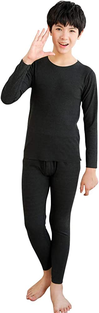 Tesuwel Boys Thermal Underwear Long Johns Set Kids Base Layer Top and Bottom