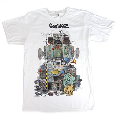 Stab & wound Gorillaz: Multi Boomboxes Shirt - White