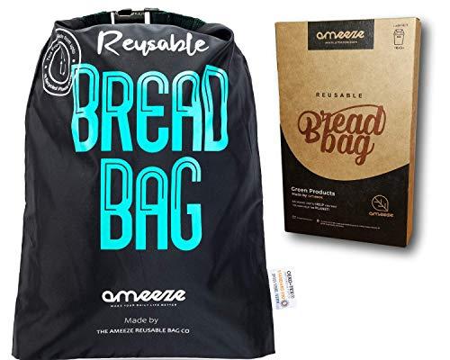 Ameeze - Brotbeutel aus ÖKO TEX® 100% Recycling Polyester – der Brotsack ist wiederverwendbar zur Aufbewahrung zum Frischhalten und Einfrieren geeignet