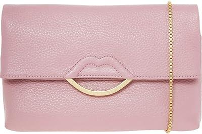Lulu Guinness Clutch-Handtasche, Leder, Pink