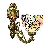 LHQ-HQ British Stained Glass Espejo Moderno Faros Jardín de Noche la lámpara de Pared del Pasillo de Aves de Vidrio- lámpara de Pared de la decoración de la Pared de luz de la lámpara de Tiffany