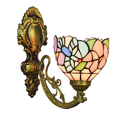 DALUXE Tiffany Crystal Lámpara de Pared Contador de vidrieras británica Mirada Moderno Tiffany Lámpara de Pared Garden Garde Garde Pájaro de Vidrio Individual Luz de Pared
