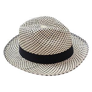 [エクアンディーノ] ecua andino エクアドル製 パナマハット BLACK SNOW メンズ レディース つば広 帽子 (M)