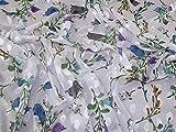 Minerva Crafts Chiffon-Stoff, Dobby, Meterware, Weiß/Blau