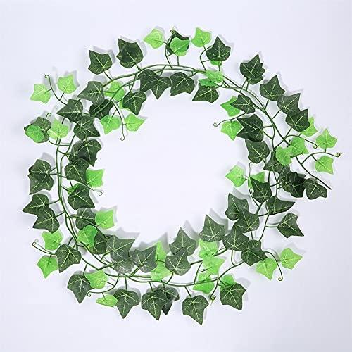 1 unids 230 cm Seda Artificial Colgante Hoja Guirnalda Plantas Vid de Hojas de la Fiesta de Bodas de Boda Decoración del jardín (Color : Two Tone Vine)