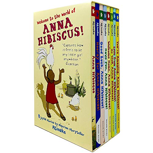 World of Anna Hibiscus 8 Books Collection Box Set by Atinuke (Anna Hibiscus, Hooray, Good Luck, Have Fun, Welcome Home, Go Well, Love From & You're Amazing)