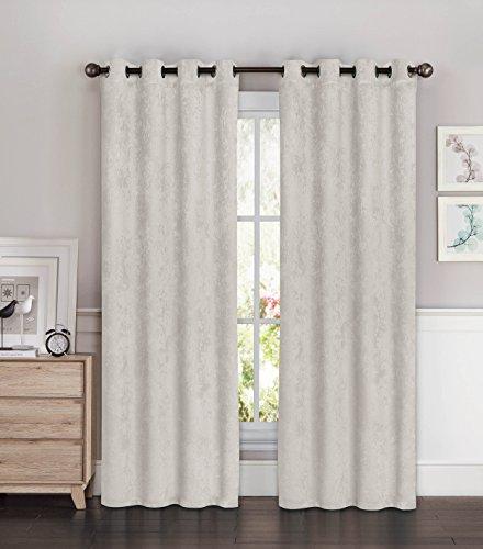 Bella Luna Faux Suede Room Darkening Extra Wide 108 x 96 in. Grommet Curtain Panel Pair, Light Grey